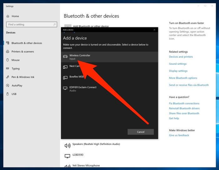 Configuración bluetooth Windows 10