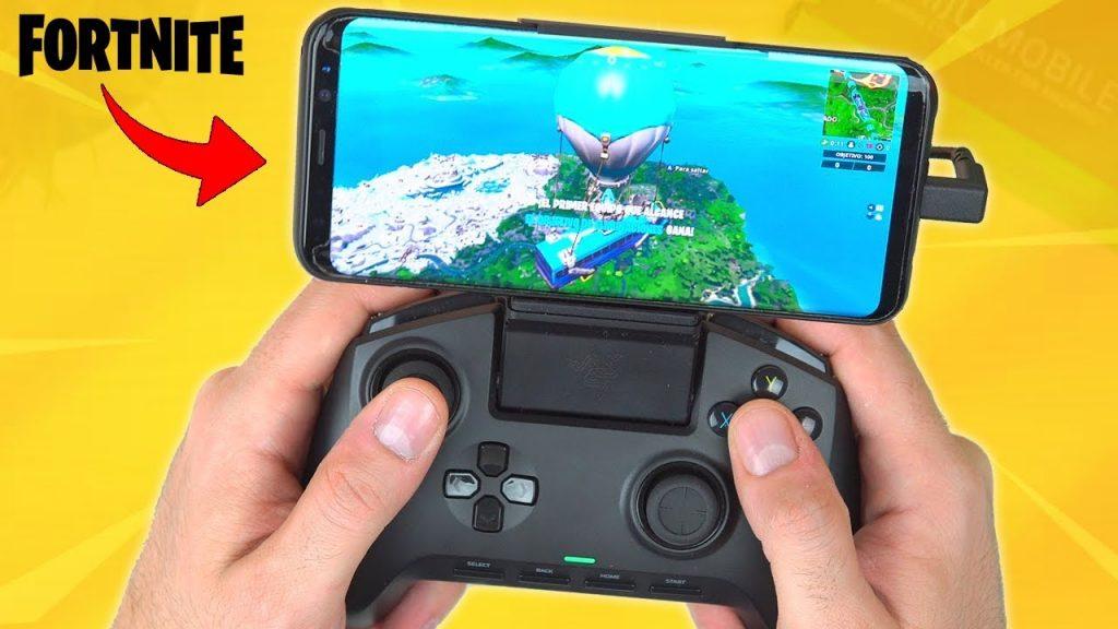 Fortnite con control en celular